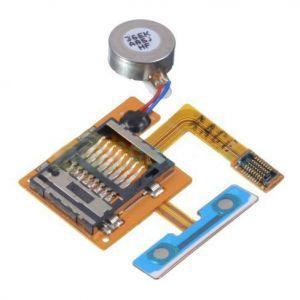 Коннектор карты памяти для Samsung S8530 Wave 2, с вибромотором, на шлейфе