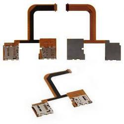 Коннектор SIM-карты и карты памяти для HTC One mini 2, на шлейфе, на две SIM-карты