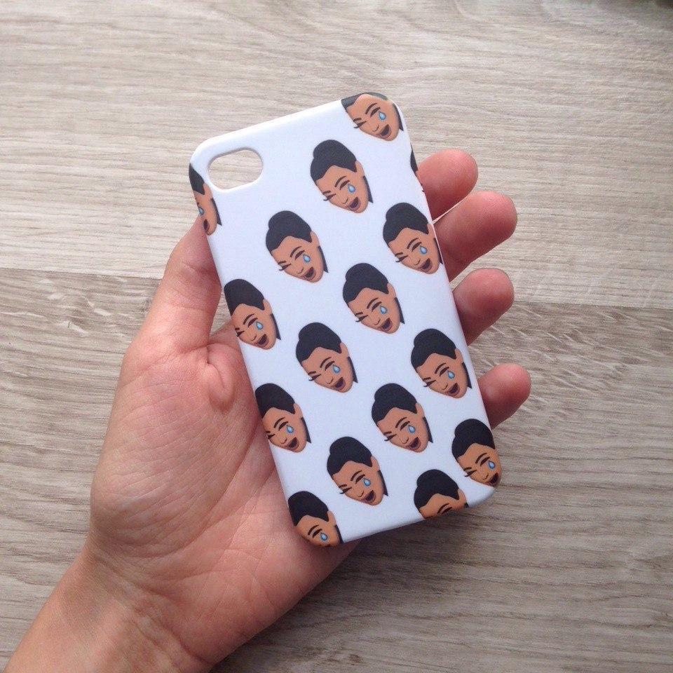 Дизайнерский пластиковый чехол с Ким Кардашьян для iPhone 4/4s