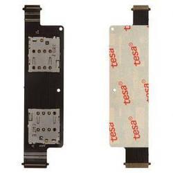 Коннектор SIM-карты для Asus ZenFone 4 (A450CG) на шлейфе на две SIM-карты