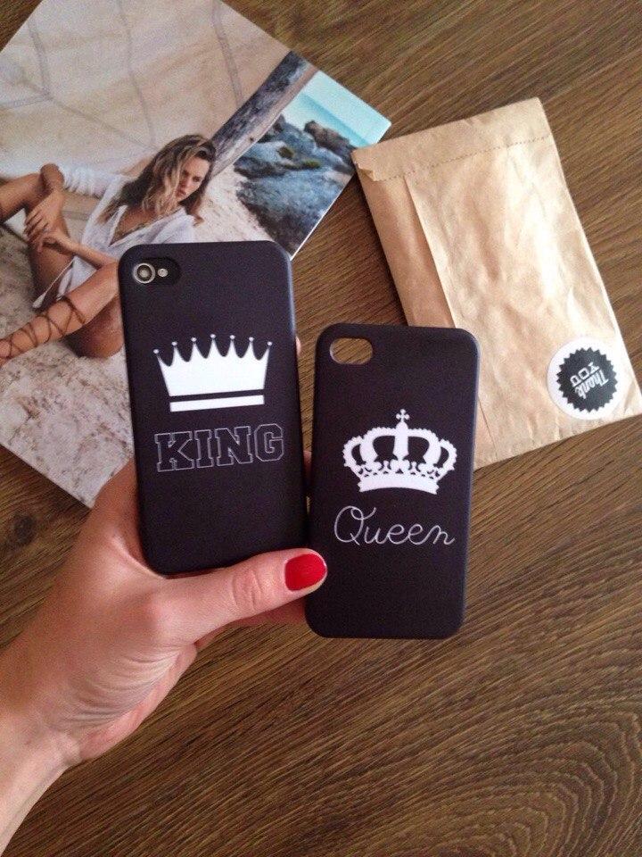 Дизайнерский пластиковый чехол Queen с короной для iPhone 4/4s