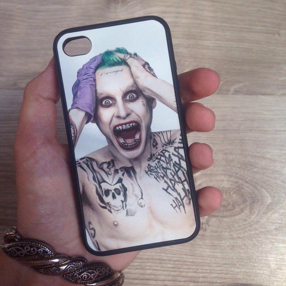 Дизайнерский пластиковый чехол с Джокером для iPhone 4/4s