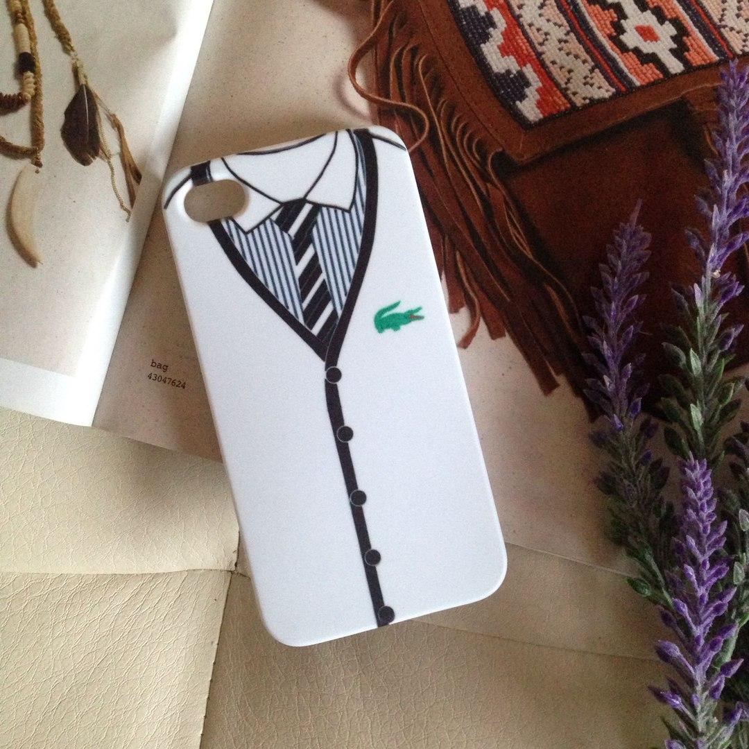 Дизайнерский пластиковый чехол Lacoste для iPhone 4/4s