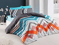 Двуспальное постельное бельё Eponj Home KERRY MAVI SV10