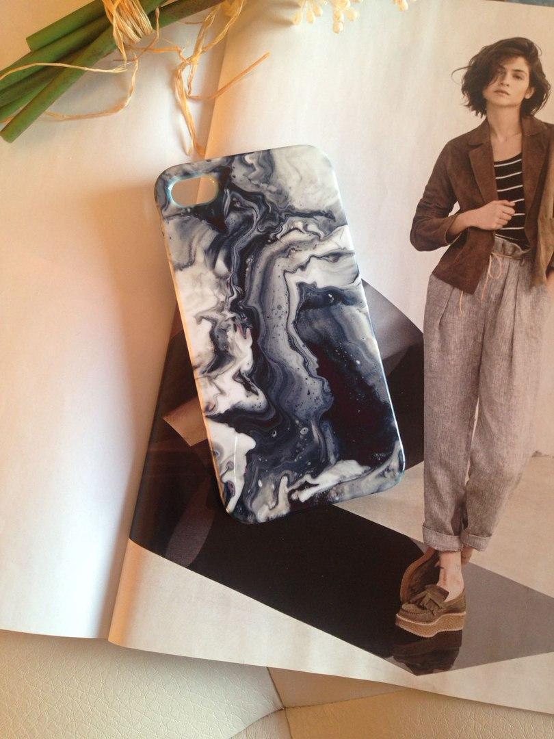 Дизайнерский пластиковый мраморный чехол для iPhone 4/4s