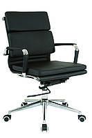 Кресло офисное кожанное Solano 3 artleather черное, фото 1