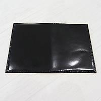 Обложка на паспорт из натуральной кожи черный