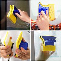 Магнитная щетка для мытья окон с двух сторон Glass Cleaner