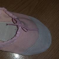 Балетки розовые. Материал: ткань + кожа.Размер:25