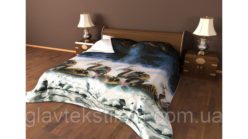 Летнее одеяло-покрывало атлас 150*210 Leleka-textile, фото 2