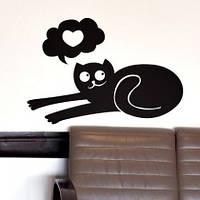 Виниловая интерьерная наклейка - кот(любовь)