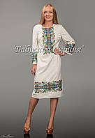 Заготівля голови чортківської жіночої сукні для вишивки нитками/бісером БС-49-1с