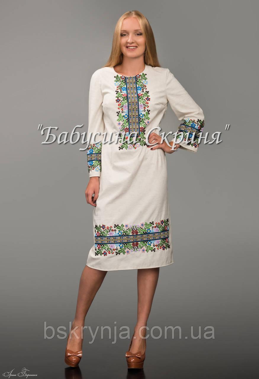 Заготовка Борщівської жіночої сукні для вишивки нитками/бісером БС-49-1с