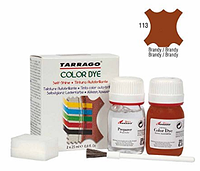 Краситель для гладкой кожи и текстиля + очиститель Tarrago Color Dye, 2*25 мл,  цв. бренди (113)