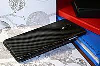 """Виниловая наклейка """"Чёрный карбон"""" Meizu M3S (задняя часть) 0,12 mm"""