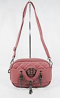 Клатч, сумочка через плечо в стиле Chanel 835-1, темная пудра