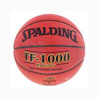 Мяч баскетбольный SPALDING TF-1000 BAUDU NBA PU №7 (реплика)