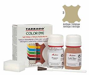 Краситель для гладкой кожи и текстиля + очиститель Tarrago Color Dye, 2*25 мл,  цв. антилопа (03)