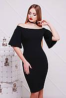 Черное вечернее платье до колен сукня Мальфа2 к/р