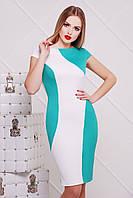 Облегающее платье цвета мяты с белым сукня Скалея б/р