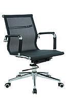 Кресло офисное текстильное Solano 3 mesh черное, фото 1