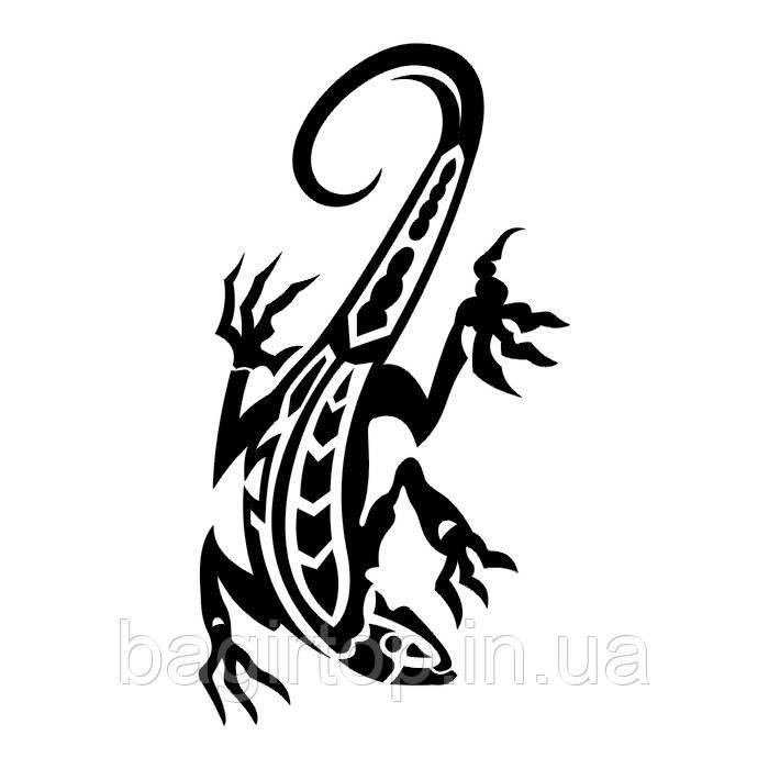 Вінілова наклейка на авто - Ящірка 14