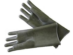 Рукавички діелектричні резиновы шовні 9кв
