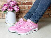 Кроссовки Nike, легкие, в сетку, цвет- Розовый, материал- фабричный текстиль
