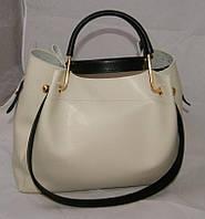 Белая женская сумка-шопер B.Elit с отстёгивающимся кошельком