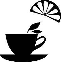 Виниловая интерьерная наклейка - Чай с лимончиком