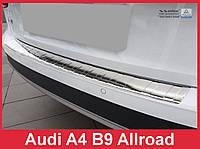 Накладка на задний бампер из нержавейки Audi A4 B9 Allroad
