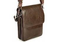 Мужская сумка Bradford 98337-2 средняя на пять отделов искусственная кожа размер 21х26х7см  Коричневый