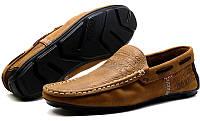 Мокасины мужские Levi`s черные и коричневые кожаные Турция Le0001