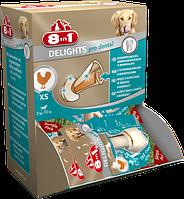 Кости 8 in 1 Dental Delights Bones XS для собак жевательные, с куриным мясом, 30 шт