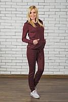 Спортивный женский костюм бордо, фото 1