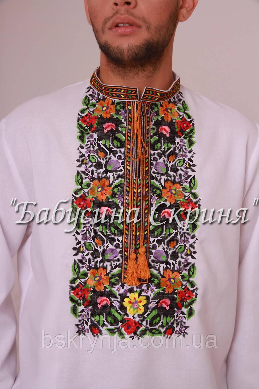 Заготовка чоловічої сорочки для вишивки нитками бісером БС-88ч ... d33ada343db84