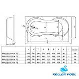 Ванна KOLLER POOL Malibu 150х70, фото 5