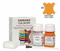 Краситель для гладкой кожи и текстиля + очиститель Tarrago Color Dye, 2*25 мл,  цв. медный металлик (505)