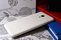 """Виниловая наклейка """"Белый карбон"""" Meizu M3S (задняя часть) 0,12 mm"""