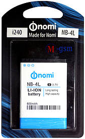 Батарея Nomi NB-4L для i240 800мА/ч