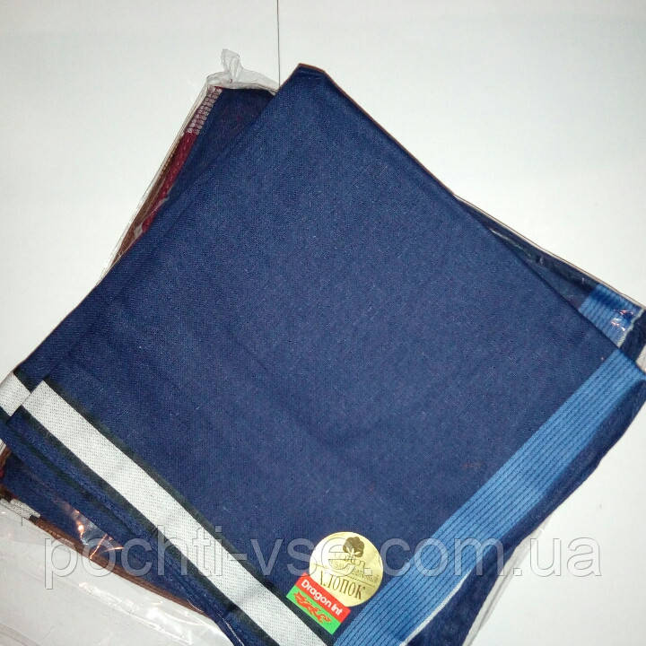 Мужской носовой платок ,темный (40х40)