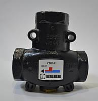 """Термостатический смесительный клапан ESBE для защиты твердотопливных котлов внутр. резьба Ø 1"""" (Kvs=9) VTC511, 60ºC"""