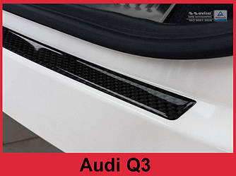 Накладка на задний бампер AUDI Q3 Карбон