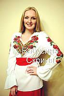Заготівля жіночої сорочки для вишивки нитками/бісером БС-1, фото 1