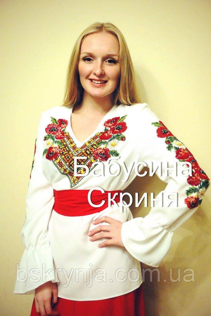 Заготівля жіночої сорочки для вишивки нитками/бісером БС-1