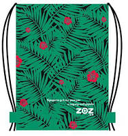 Эко - рюкзак Листья Папоротника с Цветками