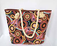 Пляжная текстильная летняя сумка для пляжа и прогулок Узор