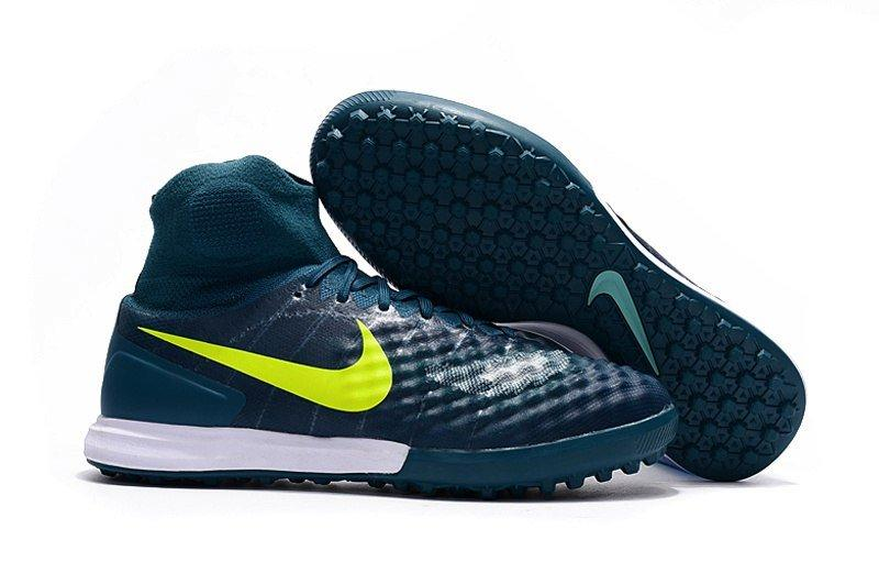 Бутсы сороконожки Nike MagistaX Proximo II TF green с носком