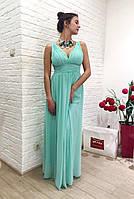 Брендовое платье женское вечернее длинное с декольте