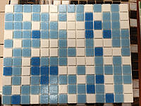 Мозаика светло-голубая GLmix100